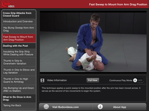 Science of the Closed Guard - Cross Grip Attacks with Dan Lukehart - ipad landscape menu image