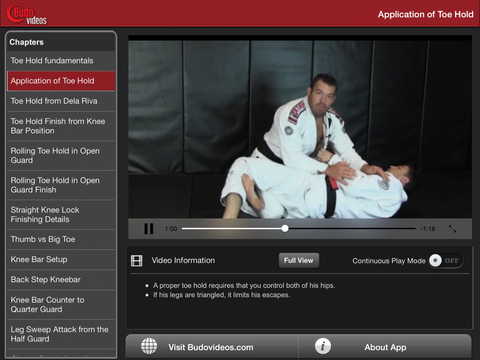 Toeholds and Kneebars by Dean Lister Vol 3 - ipad landscape menu image