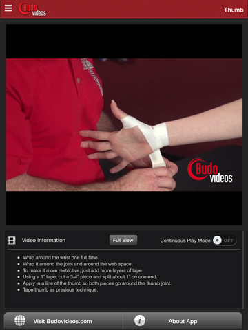 Athletic Taping Techniques by Ethan M. Kreiswirth, PhD, ATC - ipad chapter action image