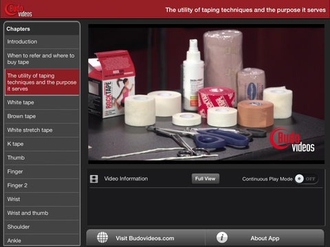 Athletic Taping Techniques by Ethan M. Kreiswirth, PhD, ATC - ipad landscape menu image