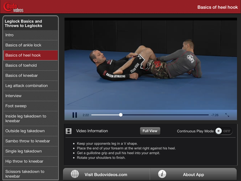 Gokor Leglock Encyclopedia Vol. 1 - Throws and Leglocks - ipad landscape menu image