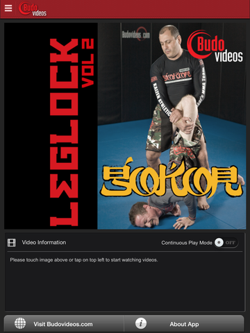 Gokor Leglock Encyclopedia Vol. 2 - Open Guard Leglocks - ipad main title screen image