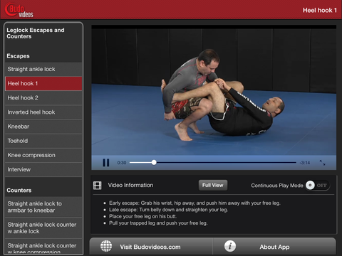 Gokor Leglock Encyclopedia Vol. 5 - Leg Lock Escapes & Counters - ipad landscape menu image