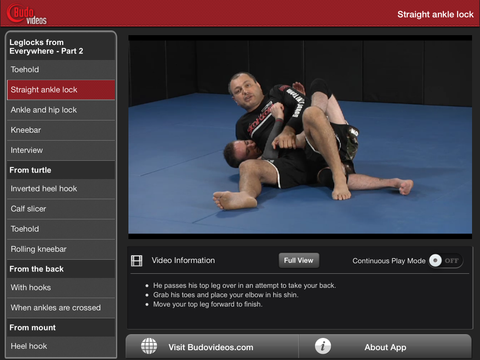 Gokor Leglock Encyclopedia Vol. 4 - Leglocks from Everywhere Part 2 - ipad landscape menu image