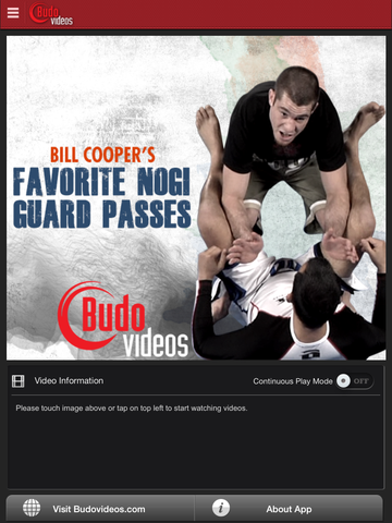 Bill Cooper's Favorite Nogi Guard Passes - ipad main title screen image