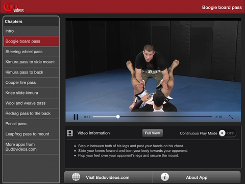 Bill Cooper's Favorite Nogi Guard Passes - ipad landscape menu image
