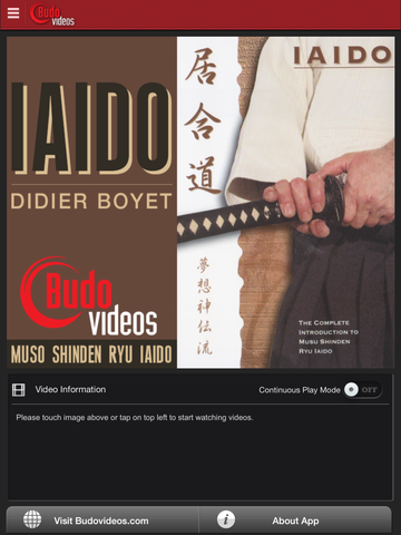 Complete Introduction to Muso Shinden Ryu Iaido with Didier Boyet - main title screen image