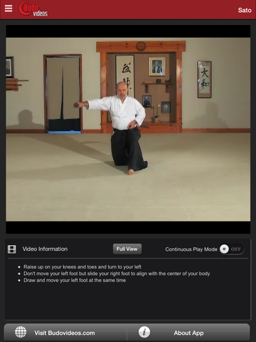 Complete Introduction to Muso Shinden Ryu Iaido with Didier Boyet - ipad chapter action image