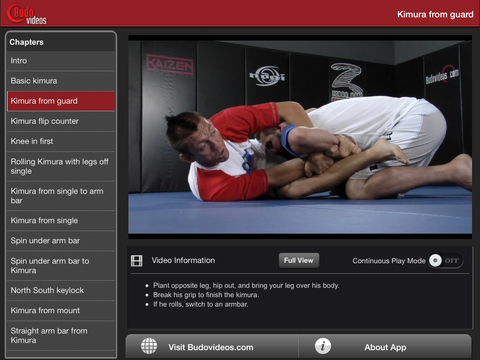 Chris Brennan - King of the Kimura- ipad landscape menu image