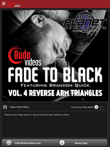 Fade to Black Vol 4 - Reverse Arm Triangles - main title screen image