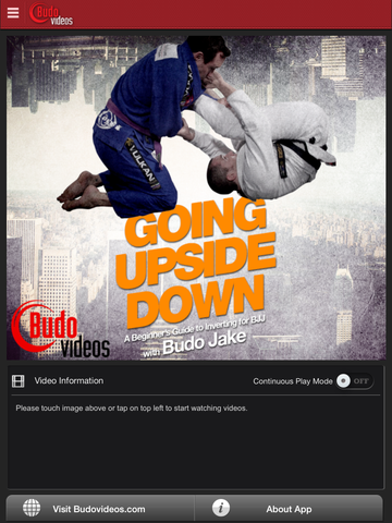 Going Upside Down - A Beginners Guide to Inverting for BJJ by Budo Jake - ipad main title screen image