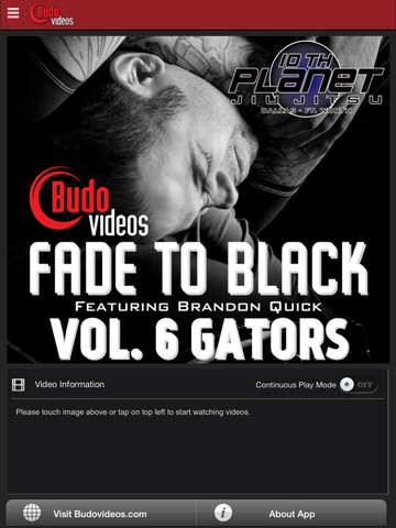 Fade to Black Vol 6 - Gators - ipad main title screen image