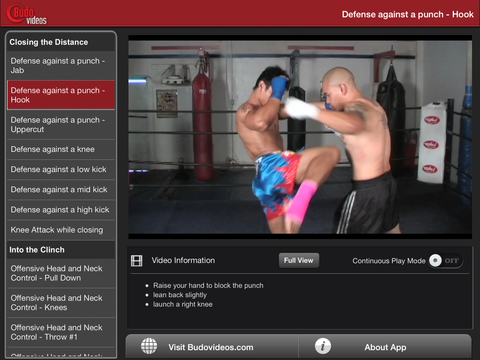 The Muay Thai Clinch - ipad landscape menu image
