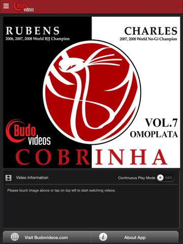 Cobrinha BJJ Vol 7 - Omoplata - main title screen image