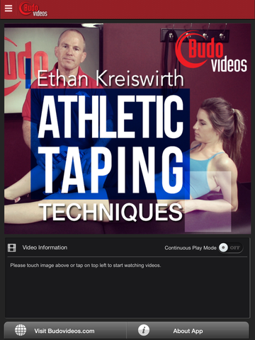 Athletic Taping Techniques by Ethan M. Kreiswirth, PhD, ATC - iPad  main title image