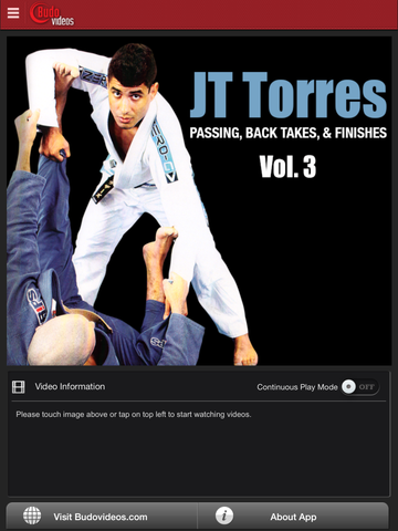 Passing, Back Takes, and Finishes by JT Torres Vol. 3 - ipad main title screen image