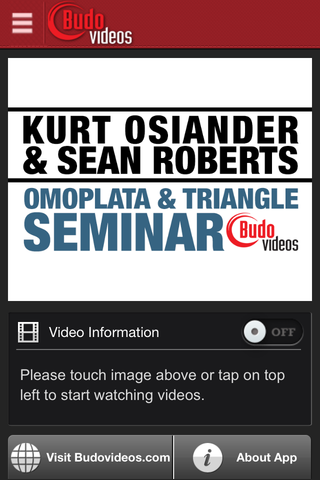 Kurt Osiander & Sean Roberts Seminar - Omoplata and Triangle Chokes - ipad main title screen image
