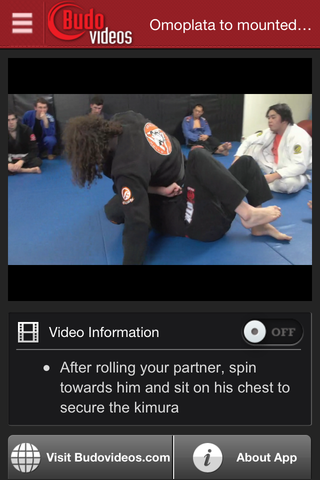 Kurt Osiander & Sean Roberts Seminar - Omoplata and Triangle Chokes - ipad chapter action image