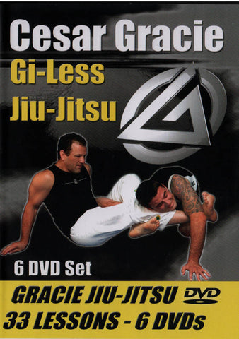 Cesar Gracie Gi-Less Instructional 6 DVD Set