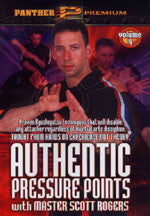 Authentic Pressure Points DVD 4 Pressure Point Knockouts: Moving Attacks DVD by Scott Rogers - Budovideos