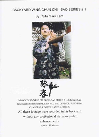 Backyard Wing Chun Chi Sao Series 1 DVD by Gary Lam 1