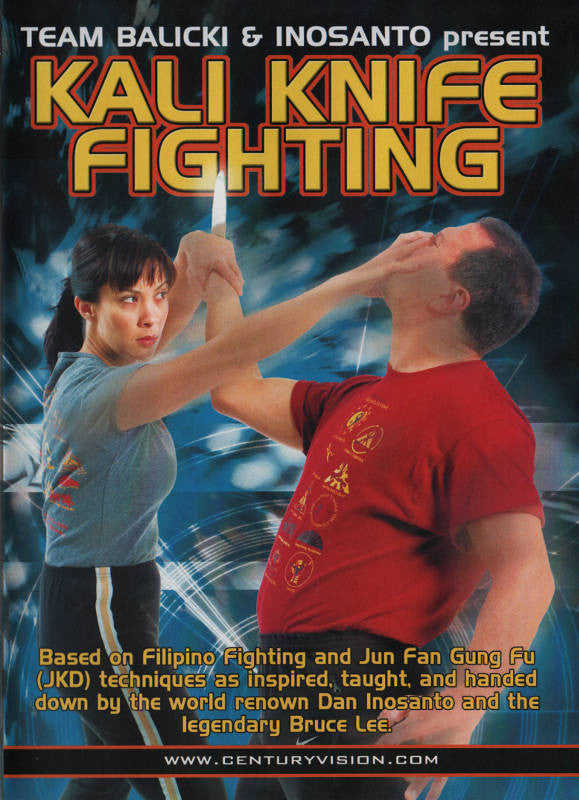 Filipino Weapons DVD 3 by Inosanto and Balicki: Kali Knife Fighting Cover 1