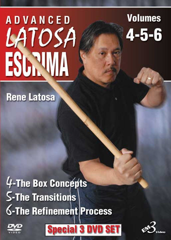 Advanced Latosa Escrima 3 DVD Set (Vol 4-6) by Rene Latosa