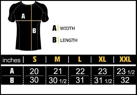 Bezerra Short Sleeve Rash Guard by Manto Size Chart 2