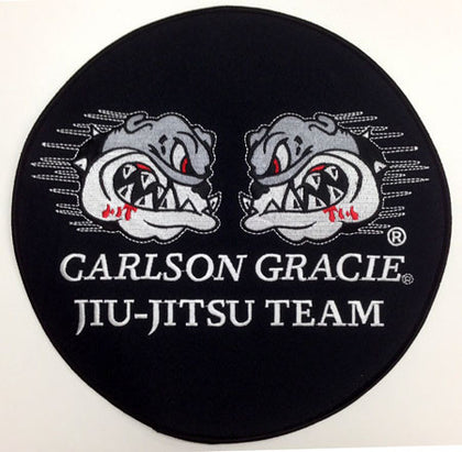 Carlson Gracie Jiujitsu Team Official Patch - BLACK large - Budovideos
