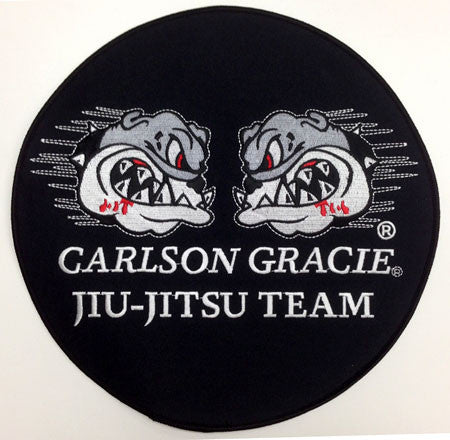 Carlson Gracie Jiujitsu Team Official Patch - BLACK small - Budovideos