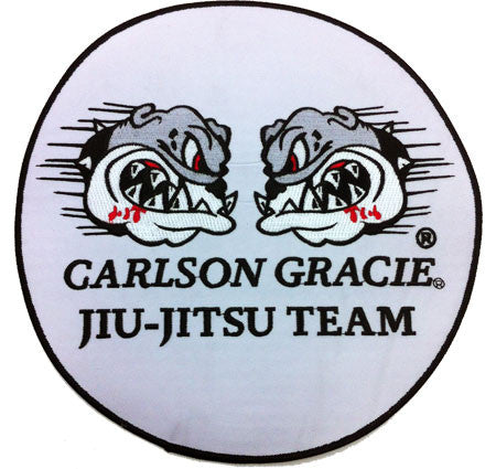 Carlson Gracie Jiujitsu Team Official Patch - WHITE small - Budovideos