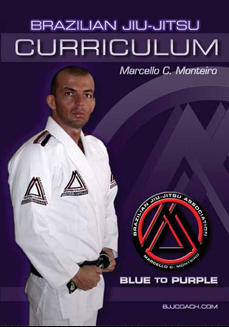 BJJ Blue to Purple Curriculum for 4 DVD Set with Marcello Monteiro 1