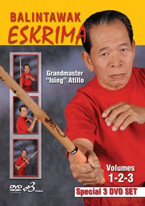 Eskrima Atillo Balintawak (Vol 1-3) 3 DVD Set with Ising Atillo - Budovideos