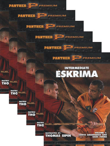 Intermediate Eskrima 6 DVD set with Thomas Sipin - Budovideos