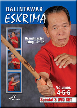 Balintawak Eskrima Vol 4-6, 3 DVD Set with Ising Atillo 1