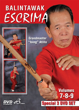 Balintawak Eskrima Vol 7-9, 3 DVD Set with Ising Atillo 1
