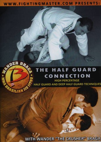 The Half Guard Connection:  High Percentage Half Guard and Deep Half Guard Techniques DVD with Wander Braga - Budovideos