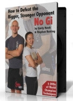 How to Defeat the Bigger, Stronger Opponent in Nogi 5 DVD Set by Stephan Kesting & Emily Kwok - Budovideos