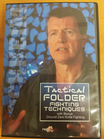 Tactical Folder and Ground Zero Knife Fighting 2 DVD Set with Hock Hochheim - Budovideos