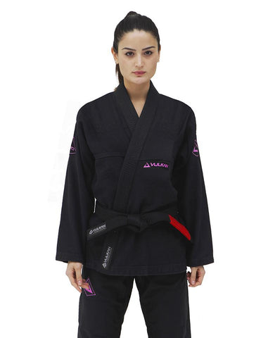 Women's Pro Evolution  BJJ Gi - Black By Vulkan - Budovideos Inc