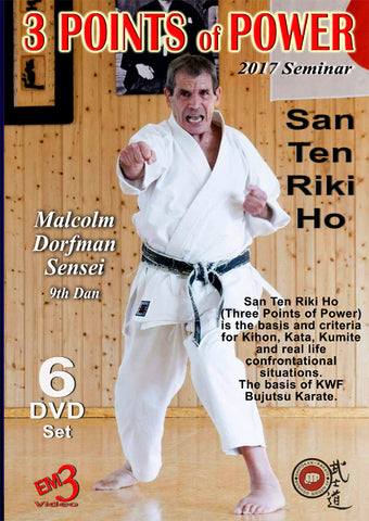3 Points of Power 2017 Karate Seminar DVD by Malcolm Dorfman - Budovideos