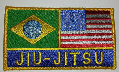 Jiu-jitsu Brazil & US Flag Patch - Budovideos