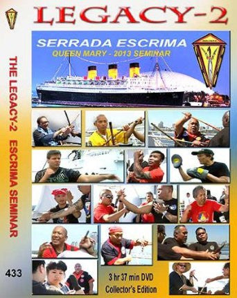 Serrada Escrima Legacy Seminar 2 (Queen Mary 2013) 2 DVD Set