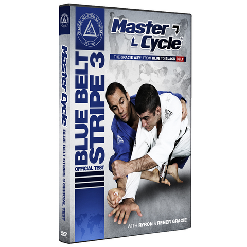 Gracie Academy Master Cycle: Blue Belt Stripe 3 DVD Official Test - Budovideos Inc