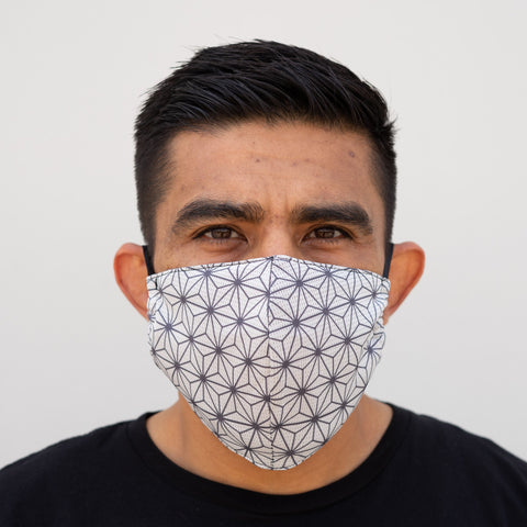 Defender PRO Antibacterial Mask (Spectral White) includes 3 N95 Filters - Made in USA - Budovideos