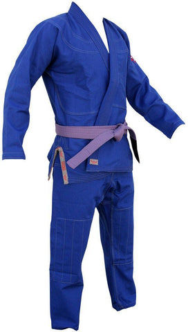 Right Side - Adult BJJ Kimono - Blue by Kaizen Athletic