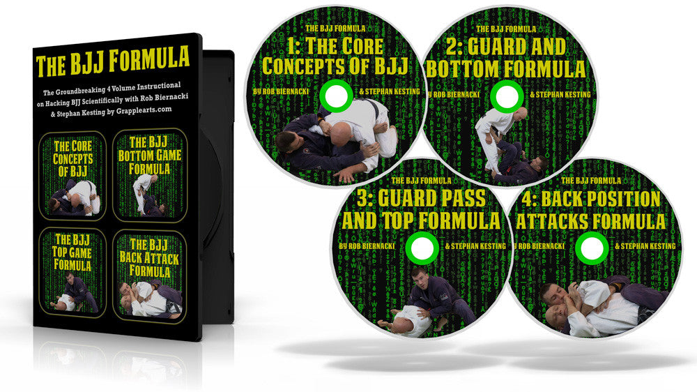 The BJJ Formula 4 DVD Set with Rob Biernacki and Stephan Kesting - Budovideos