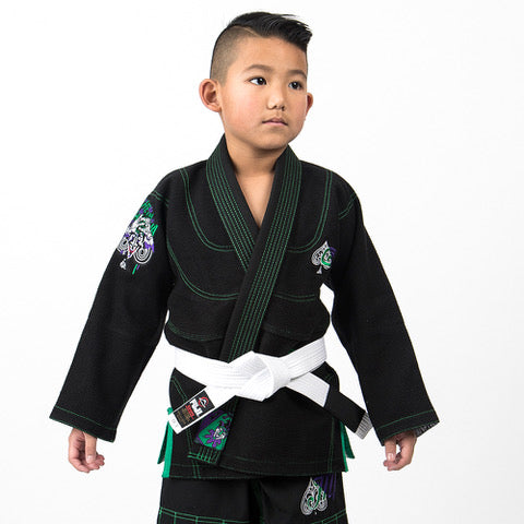 Batman The Killing Joke BJJ Gi by Fusion FG - KIDS BLACK