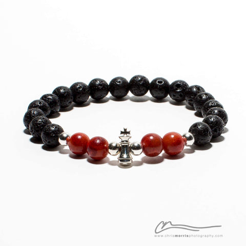 Black Rank Bracelet by NxS Design