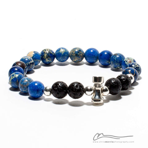 Blue Rank Bracelet by BJJ Jewelers